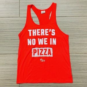 """VS PINK """"There's No We In Pizza"""" Tank"""